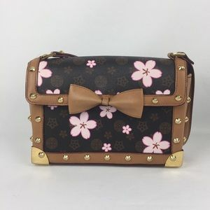Unbranded Monogram Cherry blossom Studded Handbag